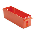 MMF Industries Porta Count Extra Capacity Rolled Coin Storage Tray, Holds $300 in Quarters, Orange