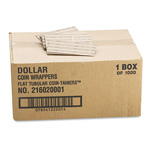 MMF Industries Flat Kraft Paper Coin Wrappers, Holds 25 Dollars, Gray, 1000/Box