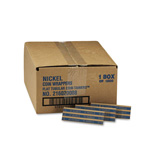 MMF Industries Flat Kraft Paper Coin Wrappers, Holds 40 Nickels, Blue, 1000/Box