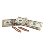 MMF Industries Blank Paper Bill Bands, Brown