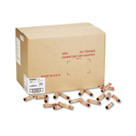 MMF Industries Preformed Kraft Paper Tubular Coin Wrappers, Holds 50 Pennies, Red, 1000/Box
