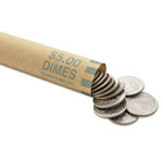 MMF Industries Coin Wrappers, Dimes, 1000/BX, Green