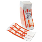 MMF Industries Currency Straps, Self Sealing, $50 Value, White/Orange, 1000/Box
