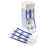 MMF Industries Currency Straps Self Sealing, $100 Value, White/Blue, 1000/Box