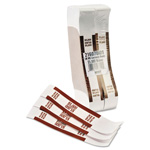 MMF Industries Currency Straps, Self Sealing, $5,000 Value, White/Brown, 1000/Box