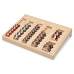 MMF Industries One Piece Countex® II Coin Tray, 6 Compartment, Plastic, Sand