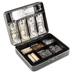 MMF Industries Cash Box with Combination Lock, 12 in, Charcoal