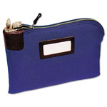 MMF Industries Seven Pin Security Bag with 2 Keys, 18 oz. Duck, 11w x 8 1/2h, Navy