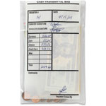 MMF Industries Cash Transmittal Bags, 2.75mil, 10/PK, White