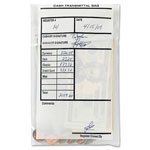 MMF Industries Cash Transmittal Bags, Self Sealing with Permanent Adhesive, 6 x 9, Clear, 500/Box
