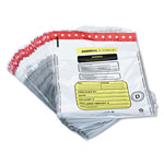 MMF Industries Tamper Evident Deposit Bags, White, 12w x 16h