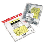 MMF Industries Tamper Evident Deposit Bags, Clear, 12w x 16h