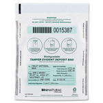 "MMF Deposit Bag, Bio-Natural, Tamper Evident, 9"" x 12"", 100/CT, WE"