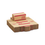 MMF Industries Coin Transport Boxes, Holds 2,500 Pennies/Box, Red, 50 Boxes/Carton