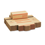 MMF Industries Coin Transport Boxes, Holds 2,000 Quarters/Box, Orange, 50 Boxes/Ctn