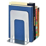 "MMF Industries Steelmaster Deluxe Steel 9"" Bookends, Silver"