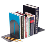MMF Industries Fashion Bookends, 5 9/10 x 5 x 7, Granite, Pair