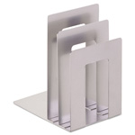 MMF Industries Soho Bookend with Squared Corners, Silver