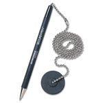 Counter Pen with Base, Med. Point, Black