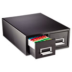 "MMF Industries Card Cabinet File, 2 Drawer, 3000 Card Cap, 3""x5"", Black"