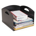 MMF Industries Big Stacker Inbox Desk Tray, Single Tier, 11 x 12 x 8, Black
