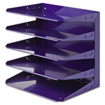 MMF Industries Soho Horizontal Organizer, Five Tier, Blue
