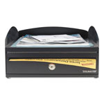 MMF Industries LockIt Inbox Desk Tray, Single Tier w/Locking Box, 11 x 14 1/4 x 5 7/8, Black