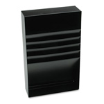 "MMF Industries Steel, 4 Compartment Desk Drawer Stationery Holder, 18"" Deep, Black"
