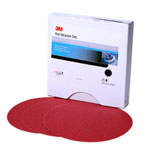"3M Red Abrasive Stikit Disc, 6"", P220, 100 Per Roll"
