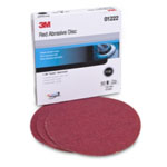 "3M Red Abrasive Hookit Disc, 6"", P180 Grit, 50 Per Box"