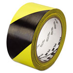 "3M 766 Hazard Warning Tape, Black/Yellow, 2"" x 36yds"