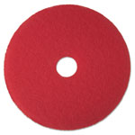 "3M Buffer Floor Pad 5100, 13"", Red, 5 Pads/Carton"