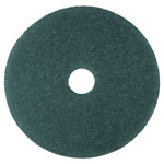 "3M Cleaner Pad, Removes Dirt/Spills/Scuffs, 17"", 5/CT, Blue"