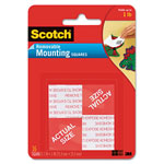 "Scotch Precut Foam Mounting 1"" Squares, Double-Sided, Removable, 16/Pack"