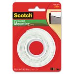 "Scotch Foam Mounting Double-Sided Tape, 1/2"" Wide x 75"" Long"