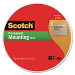 "Scotch Foam Mounting Tape, 3/4"" Wide x 1368"" Long"