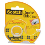 "3M 665 Double Sided Tape in Hand Dispenser, 1/2"" x 250"", 1"" Core"