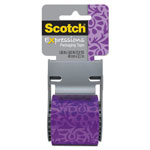 "Scotch Expressions Packaging Tape, 1.88"" x 500"", Purple Floral"