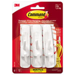 Command® Reusable Adhesive Hooks, Medium, Value Pack, 6/PK, WE