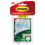 Command® All Weather Hooks and Strips, Plastic, Small, 32 Clips & 36 Strips/Pack