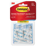 Command® Clear Hooks & Strips, Plastic, Medium, 6 Hooks & 8 Strips/Pack