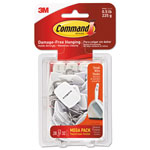 Command® General Purpose Hooks, 0.5lb Capacity, Wire, White, 28 Hooks, 32 Strips/Pack