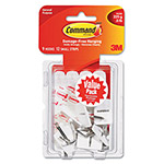 Command® General Purpose Hooks, Small, Holds 1/2lb, White, 9 Hooks & 12 Strips/Pack
