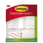Command® Picture Hanging Kit, White/Clear, Assorted