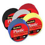 "3M Colored Plastic Tape, Moisture Resistant, 3/4""x125"", Yellow"