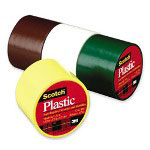 "3M Clear Colored Plastic Tape, 1-1/2""x125"""