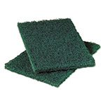 Scotch Brite® Heavy-Duty Commercial Scouring Pad 86, Dark Green, 6 x 9, 6/Pack, 10 Pack/Carton
