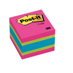 "Post-it® Note Cube, 400 Sheets, 2""x2"", Bold Brights"