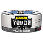 "Scotch Tough Duct Tape - Transparent, 1.88"" x 20yds, Clear"