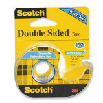 "3M Doubte-Sided Tape, Permanent, 3/4""x300"", Transparent"